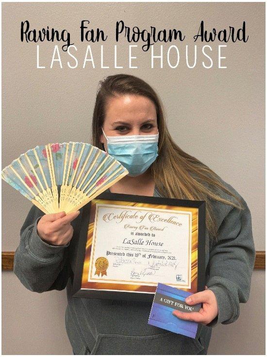Raving Fan Award - LaSalle House